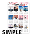 Simple Poster Calendar